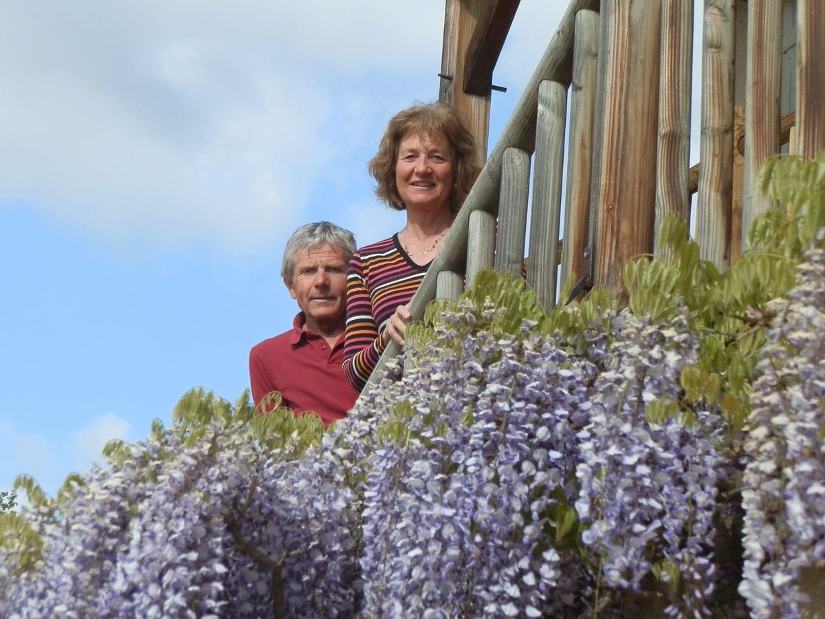 Catherine y Christian - Le Raisin Bleu - casa rural de vacaciones en Beaujolais
