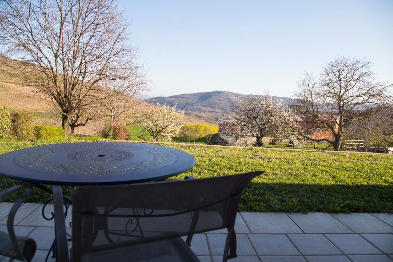 vista desde las habitaciones - Le Raisin Bleu - casa rural de vacaciones en Beaujolais